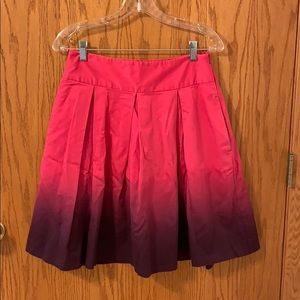 Express ombré pink and purple skirt